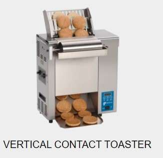 vertical contact toaster